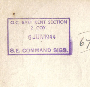 East Kent Section SE Command Sigs